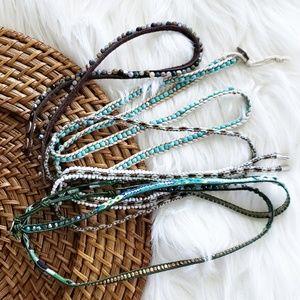 Anthropologie Bead Wrap Bracelet Set of 4 Nakamol
